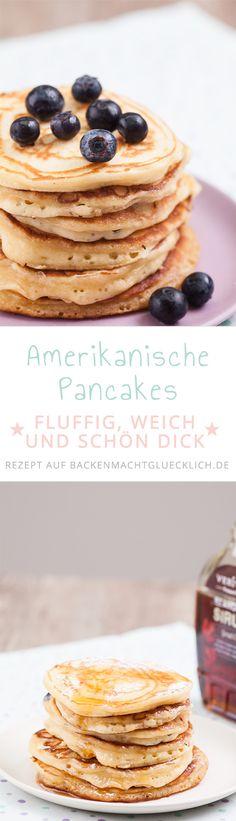 American Pancakes müssen dick, fluffig und weich sein. Dann sind sie so viel besser als deutsche Pfannkuchen. Überzeugt Euch selbst mit diesem Rezept für amerikanische Pancakes.