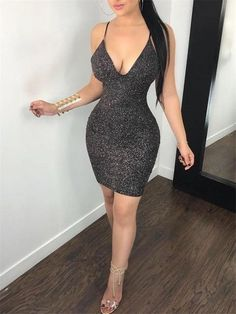 Fashion dress party - New Fashion Sexy Women Bodycon Mini Dress Sleeveless V Neck Summer Hotrricdress – Fashion dress party Tight Dresses, Sexy Dresses, Short Dresses, Fashion Dresses, Trendy Dresses, Ball Dresses, Clubwear, Sexy Outfits, Chic Outfits