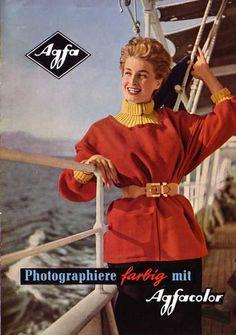 Photographiere farbig mit Agfacolor - Prospekt 50er