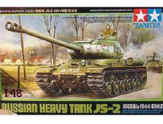 The Tamiya Russian JS-2 Model 1 Heavy Tank Model Kit in 1/48 scale is a plastic model kit in the Tamiya 1/48 Military range.    If you require paints, glues and modelling accessories for this model they can be found here:        Tamiya Acrylic Paints      Tamiya Spray Paints      Glues    The Russian Heavy Tank JS-2 was built to counter the German Tiger I. The JS-2, which was put into production in December 1943 during the latter half of WWII, had a long powerful 122mm gun and superior…