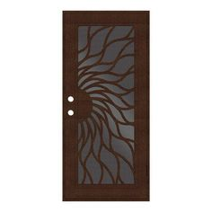 Unique Home Designs Yale Copperclad Left-Hand Surface Mount Security Door with Black Perforated Metal Screen brings natural beauty right to your door. Single Doors, House Design, Aluminum Screen, Metal, Safety Glass, Security Door, Perforated Metal, Touch Up Paint, Metal Screen