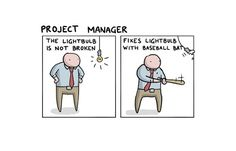 Jobs Explained With a Broken Lightbulb. Created by the Toggl Goon Squad https://www.templatemonster.com/blog/ webdesigner humor