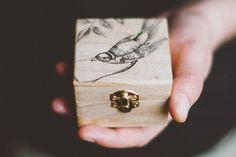 Small wooden engagement box My Little Bird por MissVintageWedding