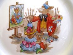 Collectible Bunnykins  Portrait Painter Plate.Like by ChinaGalore, $22.00