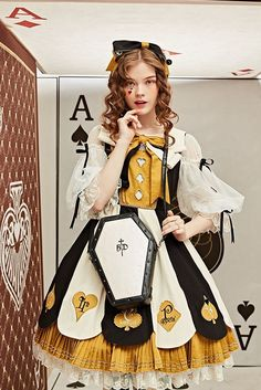 The Alice Adventures in Wonderland OP 8 by Classic Puppet Pre-order ends 2019 August 30 Alice In Wonderland Outfit, Wonderland Costumes, Beautiful Outfits, Cool Outfits, Fashion Outfits, Scene Outfits, Fashion Boots, Op One Piece, Mode Sombre