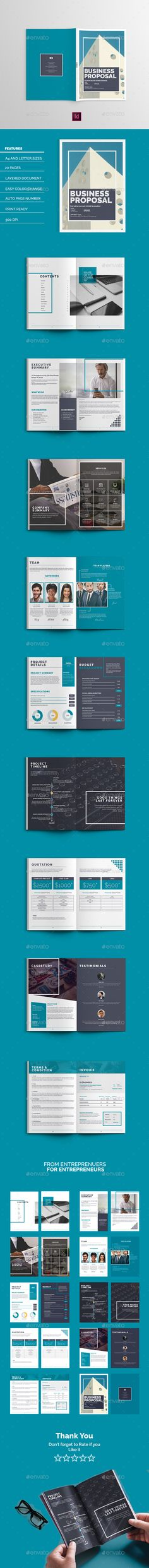 The Business Proposal Design Template - Proposals & Invoices Stationery Template InDesign INDD. Download here: http://graphicriver.net/item/the-business-proposal/16866926?ref=yinkira