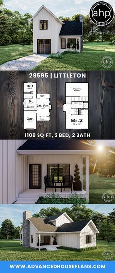 Small Cottage House Plans, Small Cottage Homes, Cottage Floor Plans, Country House Plans, Small Farm Houses, Tiny Cabin Plans, Little House Plans, Small Modern House Plans, Cabin House Plans