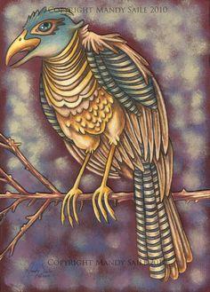 Beautiful Bird 17 PRINT by BijousWhimsy on Etsy