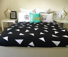 Kmart doona, cushions & lamp
