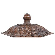 View this item and discover similar for sale at - A wonderful century Italian carved walnut 'baldacchino'. The fantastic quality carving of acanthus leaf design on three sides topped by a fluted finial. Wall Brackets, Acanthus, Wall Decorations, Leaf Design, Modern Wall, 18th Century, Carving, Antiques, Collection