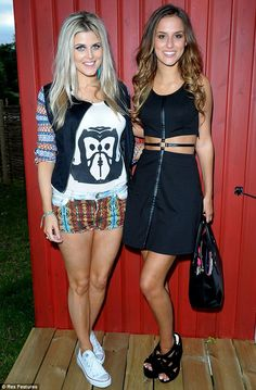 Girls' night out: Lucy was offered some moral support from her Made In Chelsea co-star Ashley James, who accompanied her to the bash
