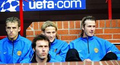 Phil Neville, Laurent Blanc, Diego Forlan & David Beckham