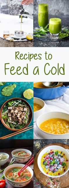 Foods to Eat When You Have a Cold: This cold and flu season, keep yourself hydrated and fortified with these vegan and vegetarian recipe ideas. #sick #recipes #vegan #soup #sickday via @champagneta0249