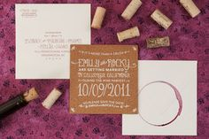 Love the idea of cork coasters for save the dates...