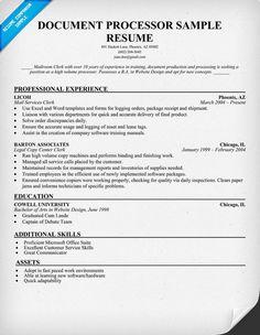 document processor resume sample resumecompanioncom jobs pinterest document processor resume - Mortgage Loan Processor Resume