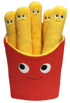 Papas fritas de peluche que puedes abrazar.