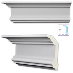 uDecor Neoclassical Crosshead/ Cap Molding (Pack of (Primed White - Crown Molding) Basement Plans, Basement Remodeling, Basement Storage, Kitchen Remodeling, Bathroom Storage, Remodeling Ideas, Moldings And Trim, Crown Molding, Neoclassical Design
