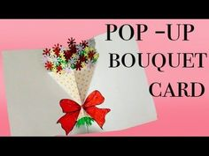 Pop-Up Bouquet card - DIY - YouTube