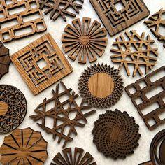 Coffee Coasters, Tea Coaster, Wood Coasters, Drink Coasters, Modern Napkin Holders, Wood Napkin Holder, Modern Coasters, Wall Clock Wooden, Home