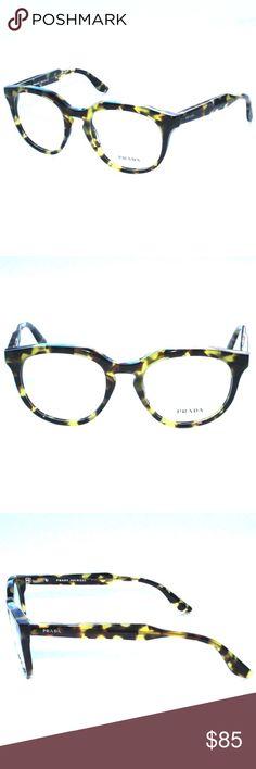 d04285c25cdf Prada Eyeglasses VPR13S 48 18 UBN Yellow Tortoise Brand new 100% authentic Prada  Eyeglasses