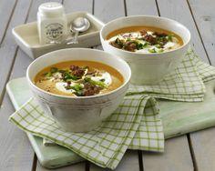 Unser beliebtes Rezept für Kürbissuppe mit Hackfleisch und mehr als 55.000 weitere kostenlose Rezepte auf LECKER.de.