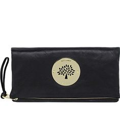MULBERRY Daria spongy leather clutch (Black