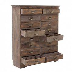 Cajonera 80x98cm estilo vintage en madera abeto