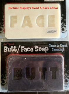 Two-faced Soap  http://www.lovedesigncreate.com/butt-face-soap/