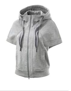 ADIDAS STELLA MCCARTNEY $120 GRAY STUDIO SSL YOGA FITNESS HOODIE JACKET NEW S