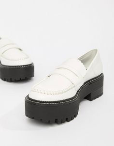 10835e99172 Bershka white chunky loafer · Chunky LoafersLoafers MenMocassinShoe ...