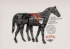 Des cheval poster by Alexis Jamet, via Behance