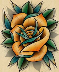 Most Popular skull rose tattoo old school Neo Traditional Roses, Traditional Tattoo Flowers, Traditional Tattoo Flash, Skull Tattoo Flowers, Skull Rose Tattoos, Flower Tattoo Designs, Old School Rose, Rose Drawing Tattoo, Japanese Flower Tattoo