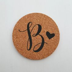 Round Cork Coaster, Personalized Wedding Gift - Mini Wim Personalized Coasters, Custom Coasters, Personalized Wedding Gifts, Coaster Design, Coaster Set, Housewarming Gifts For Couples, Special Images, Cork Coasters, Love Design