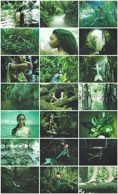 Rainforest Mermaid aesthetic for @kissesfromlife