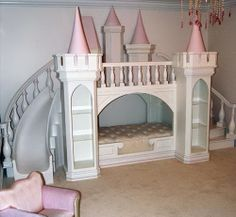 girls bunk beds with slide | Princess Castle Loft Bed by Poshtots » Home Design | Concept ...