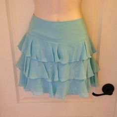 Bebe Silk Skirt Pre-loved condition. 100% silk. Side zipper. bebe Skirts