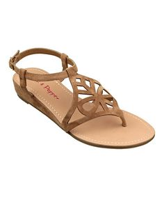 Take a look at this Mocha Myia Sandal by Pink & Pepper on #zulily today!