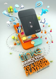 TINKE by CRITICA , via Behance - 3D Typography Design Modelling