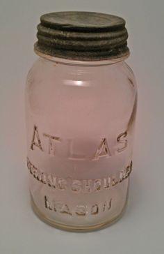 Vintage Antique Quart Clear Hazel Atlas Strong by melissasantiques, $4.00