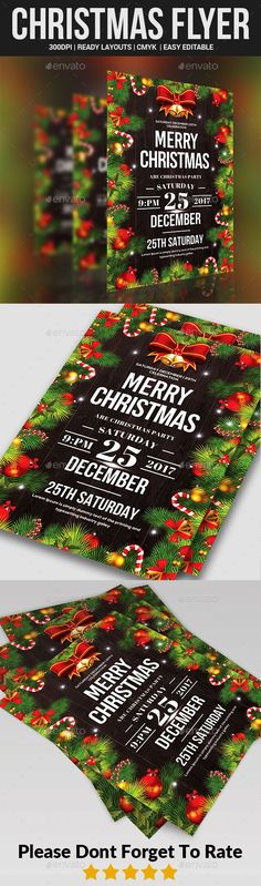 Christmas Party Flyer Templates - Events Flyers Christmas Party Flyer Templates is a professional, clean, & creative Christmas Flyer template designed to make a good impression. ................................................ Features : - Editable in adobe photoshop - Professional design - Uses free fonts