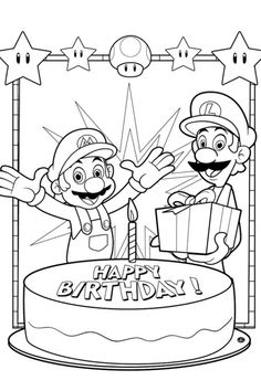 Mario | Educational Fun Kids Coloring Pages and Preschool Skills Worksheets