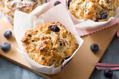 Chia+Seed,+Oat+And+Blueberry+Muffins+by+Taste.Com.Au.+These+healthy+blueberry+muffins+are+the+perfect+food+for+lunch-boxes+or+mid-afternoon+snacks.