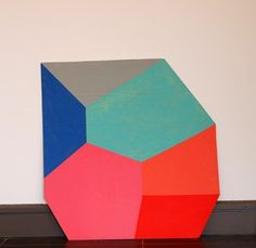 Louisa Chambers, Rotating Shape: Side II, 2013 Space Painting, Fun At Work, Three Dimensional, Cube, Symbols, Shapes, Abstract, Artwork, Artists