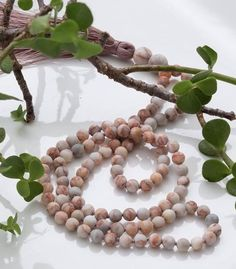 Pink Matrix Mala beads / perfect for your feminine wiles Bracelets For Men, Beaded Bracelets, Bead Necklaces, Stone Beads, Stone Jewelry, Soy Candles, Scented Candles, Tree Of Life Bracelet, Tree Agate