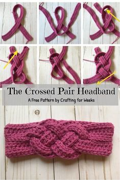 The crossed pair of headbands: a free crochet pattern - crafts for weeks . The crossed pair of headbands: a free crochet pattern - handicrafts for weeks - .- The crossed pair of headbands: a fr. Bandeau Crochet, Crochet Headband Free, Crochet Flower Headbands, Crochet Puff Flower, Crochet Flower Patterns, Crochet Beanie, Knitting Patterns, Crochet Flowers, Knitting Projects