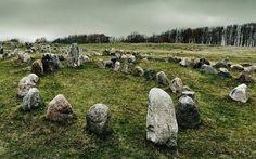 Viking burial site, Lindholm Hoje, Denmark