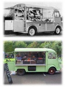 vieille photo et notre H L'Epicerie food truck. Coffee. Citroën H