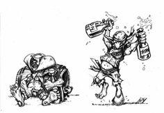 Warhammer Art, Warhammer Fantasy, Warhammer 40000, Space Fantasy, Blood Bowl, Skull And Crossbones, Dnd Characters, Goblin, Old World