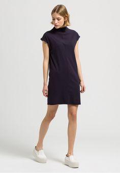 erhältlich in blau - Kleider Jersey Solid, 100% Baumwolle (bio), Loose fit, GOTS, organic, CERES-008 - nachhaltige Materialien und faire Produktion