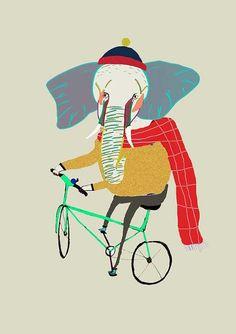 Elephant Biker by Ashley Percival